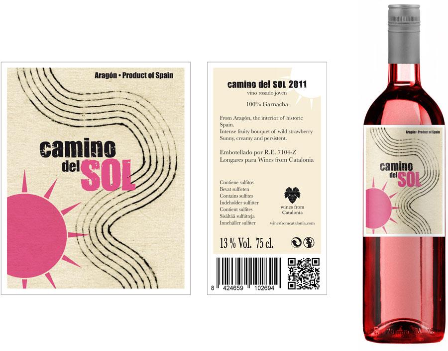 Camino del sol rosado